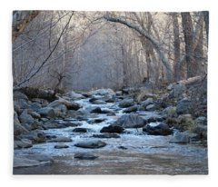 Winter Creek  Fleece Blanket
