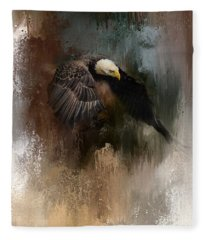 Winter Eagle 2 Fleece Blanket