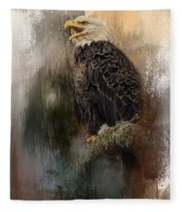 Winter Eagle 3 Fleece Blanket