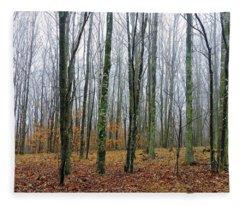 Winter Forest Fleece Blanket