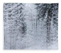 Winter Glow- Fleece Blanket