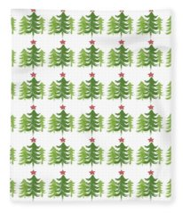 Winter Holiday Trees 1-  Art By Linda Woods Fleece Blanket