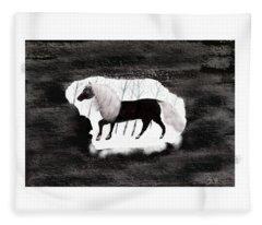 Winter Horse Fleece Blanket