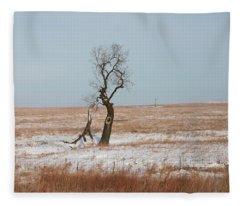 Winter In Kansas Fleece Blanket