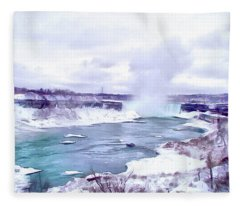 Winter In Niagara 1 Fleece Blanket