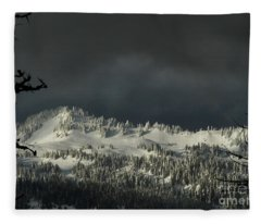 Winter In North Cascades Fleece Blanket