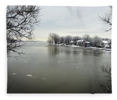 Winter In Quebec Fleece Blanket