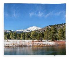 Winter In Ruidoso Fleece Blanket