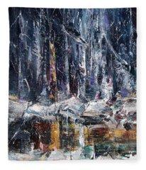 Winter Light Iv Fleece Blanket