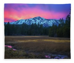 Winter Meadow By Brad Scott Fleece Blanket