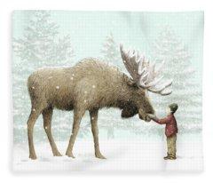 Moose Fleece Blankets