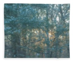Winter Morning Glory Fleece Blanket