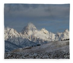 Winter Morning - Grand Teton National Park Fleece Blanket