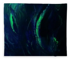 Winter Northern Lights  Fleece Blanket