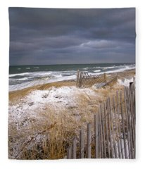 Winter On Cape Cod Fleece Blanket