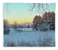 Winter On The Tree Farm Fleece Blanket