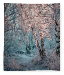 Winter Path #h1 Fleece Blanket