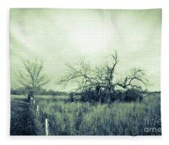Winter Pecan Fleece Blanket