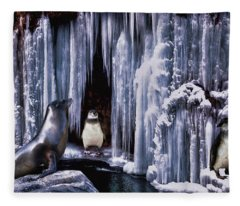 Winter Playground Fleece Blanket