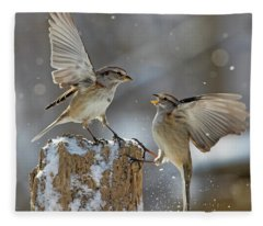 Winter Quarrel Fleece Blanket