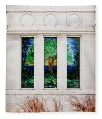 Winter Quarters Temple Tree Of Life Stained Glass Window Details Fleece Blanket