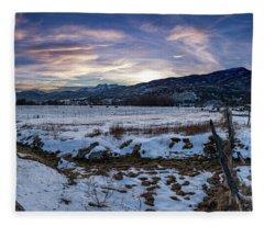 Sunset Range Fleece Blanket