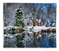 Winter Reflection Fleece Blanket