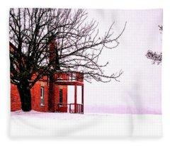 Winter Retreat Fleece Blanket