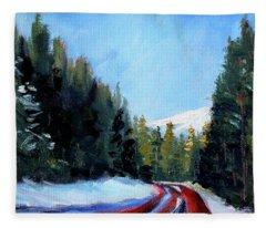 Winter Road Trip Fleece Blanket