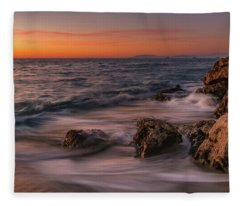 Winter Sea Fleece Blanket