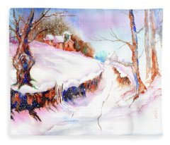 Winter Snow Fleece Blanket