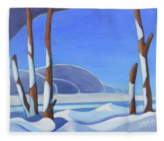 Winter Solace II Fleece Blanket