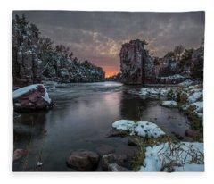 Winter Storm  Fleece Blanket