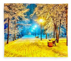 Winter Street Fleece Blanket