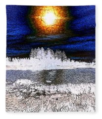 Winter Sunburst Fleece Blanket