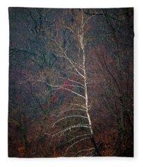 Winter Sycamore Fleece Blanket