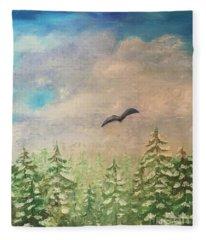 Winter To Spring Fleece Blanket