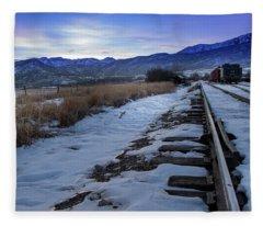 Winter Tracks Fleece Blanket