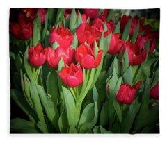 Winter Tulips Fleece Blanket