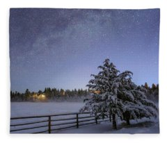 Winter Twilight Fleece Blanket