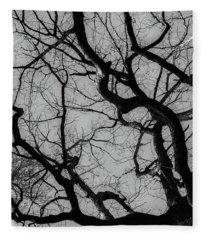 Winter Veins Fleece Blanket