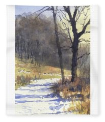 Winter Walk Fleece Blanket