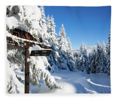 winter way in the Upper Harz Fleece Blanket