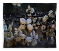 Winterized Hydrangea Fleece Blanket