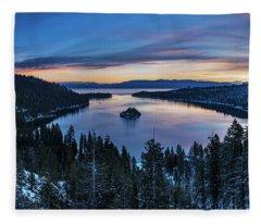 Winters Awakening - Emerald Bay By Brad Scott Fleece Blanket