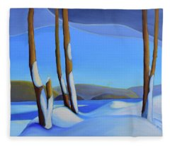 Winter's Calm Fleece Blanket