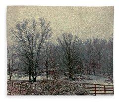 Winter's First Snowfall Fleece Blanket