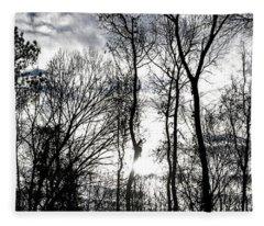 Winter's Mystic Horizon Fleece Blanket