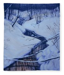 Winter's Stream Fleece Blanket