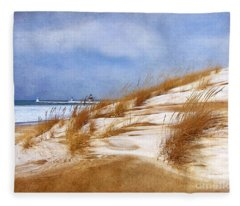 Wintertime St. Joe Lighthouse  Fleece Blanket